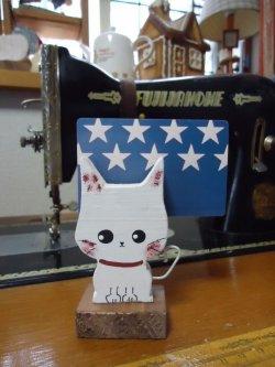 画像1: メモスタンド・白ネコ