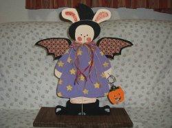 画像1: 木工ドールうさぎ魔女