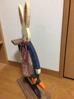 画像2: 木工ドール  うさぎ