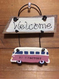 画像1: Welcomeボード・Car  ピンク